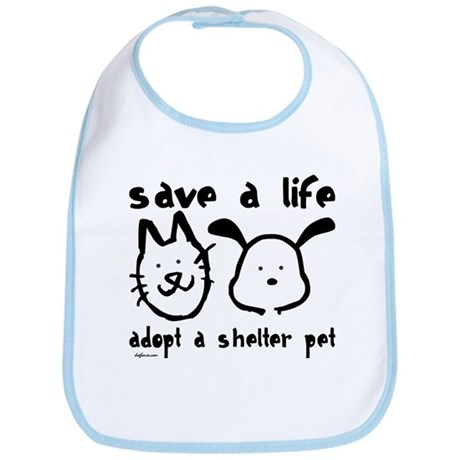 Save a Life - Adopt a Shelter Pet Bib