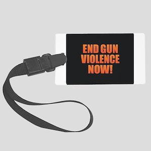 End Gun Violence Large Luggage Tag