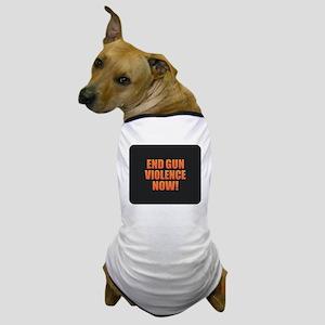 End Gun Violence Dog T-Shirt