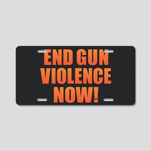 End Gun Violence Aluminum License Plate
