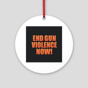 End Gun Violence Round Ornament