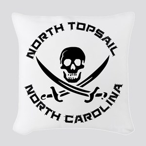 North Carolina - North Topsail Woven Throw Pillow