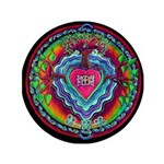 "Heart Opening Mandala 3.5"" Button"