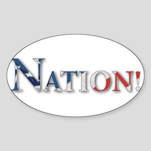Colbert Nation Oval Sticker
