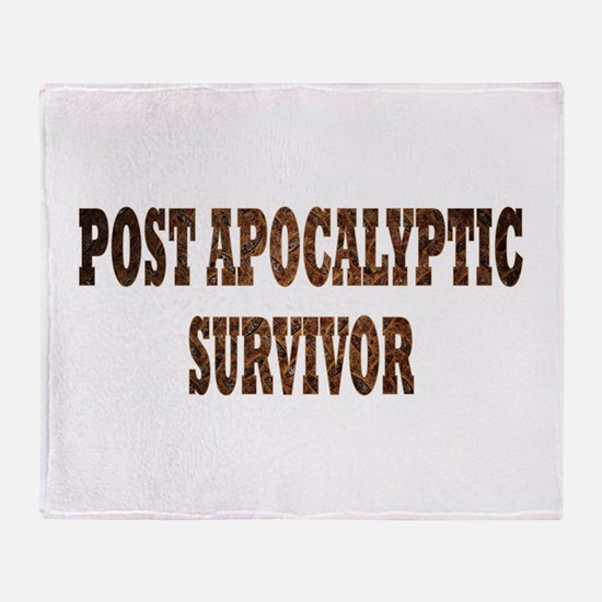Post Apocalyptic Survivor Throw Blanket
