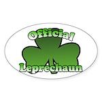 Official Leprechaun Oval Sticker
