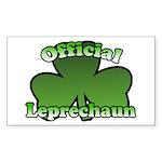 Official Leprechaun Rectangle Sticker