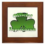 Official Leprechaun Framed Tile