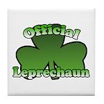 Official Leprechaun Tile Coaster