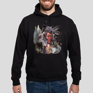 Spirit Brothers Native American Wolv Sweatshirt
