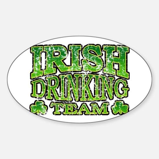 Irish Drinking Team Retro Oval Decal