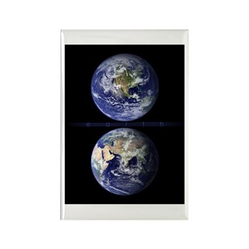 Earth from Space Rectangle Magnet