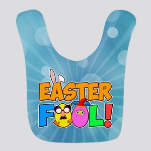 Easter Fool! Cracked Eggs Polyester Baby Bib