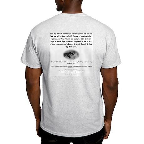 Pitbull Facts Ash Grey T-Shirt