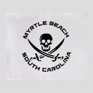 South Carolina - Myrtle Beach Throw Blanket