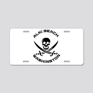 Washington - Alki Beach Aluminum License Plate
