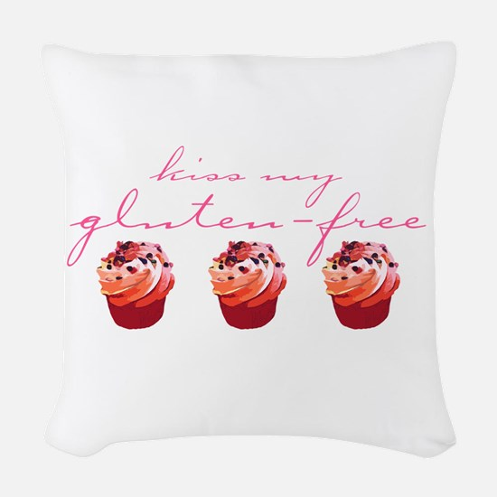 Kiss My Gluten-Free (Cupcakes) Woven Throw Pillow