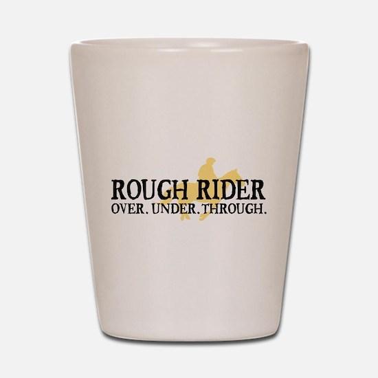 Rough Rider Shot Glass