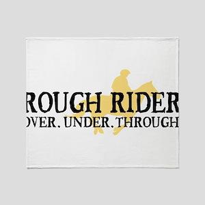 Rough Rider Throw Blanket