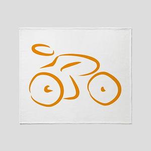 bike logo Throw Blanket