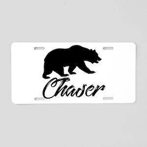 Bear Chaser Aluminum License Plate