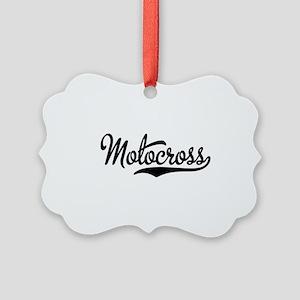 Motocross Picture Ornament