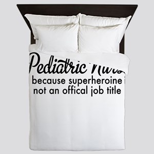 pediatric nurse Queen Duvet