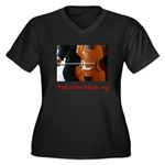 Viols in Our Schools Women's +Size Dark T-Shirt