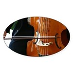 Viols in Our Schools Viola da Gamba Oval Sticker