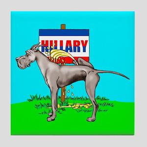 Black Dane Pi$$ on Hillary Tile Coaster