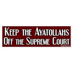 Keep off Ayatollahs Bumper Bumper Sticker