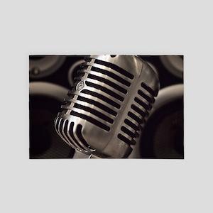 Microphone 4' x 6' Rug