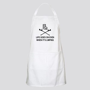 Life goes on, even when it's limping Light Apron
