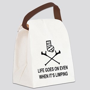 Life goes on, even when it's limp Canvas Lunch Bag