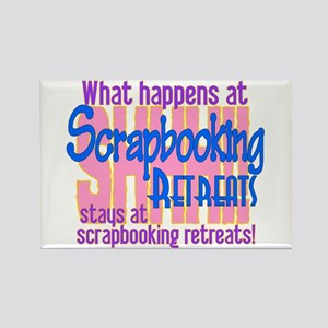 Scrapbooking Retreats Shhh! Rectangle Magnet