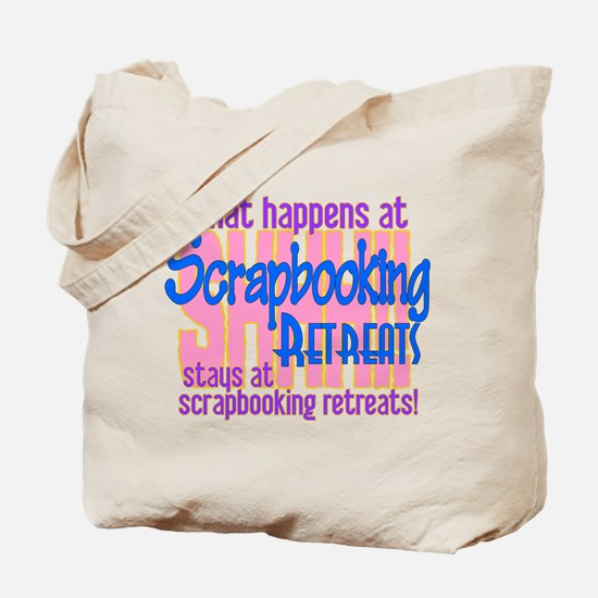 Scrapbooking Retreats Shhh! Tote Bag
