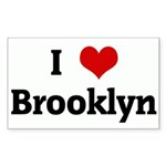 I Love Brooklyn Rectangle Sticker