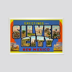 Silver City New Mexico Greetings Rectangle Magnet