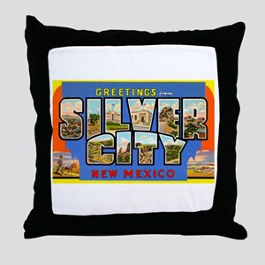 Silver City New Mexico Greetings Throw Pillow