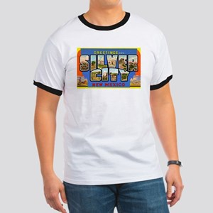 Silver City New Mexico Greetings (Front) Ringer T