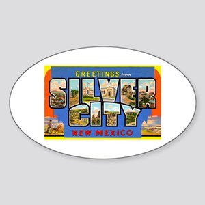 Silver City New Mexico Greetings Oval Sticker