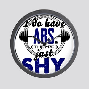 Shy Abs Fitness Workout Gym Training De Wall Clock