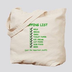 Shopping List Tote Bag
