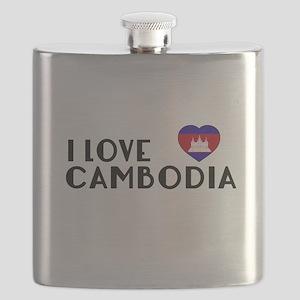 I Love Cambodia Flask
