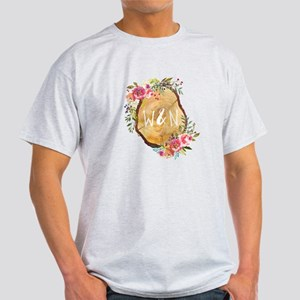 Monogram Initials in Wood T-Shirt