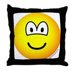Emoface Throw Pillow