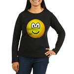 Emoface Women's Long Sleeve Dark T-Shirt