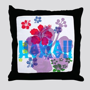 Hawaii Hibiscus Throw Pillow