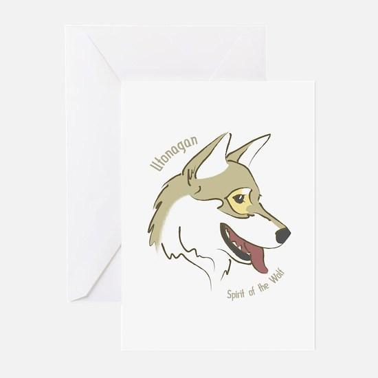 Utonagan 'Spirit of the Wolf' Greeting Cards (Pack