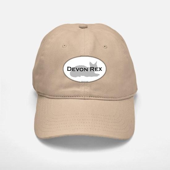 Devon Rex Oval Baseball Baseball Cap